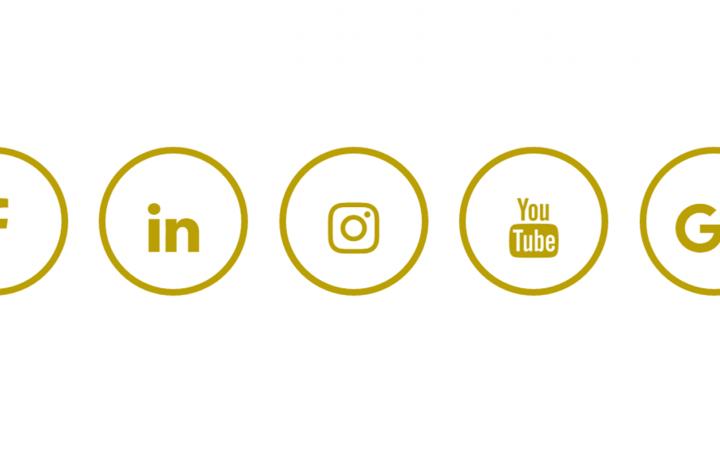 Social Media met Francis Facebook Instagram LinkedIn YouTube Google+